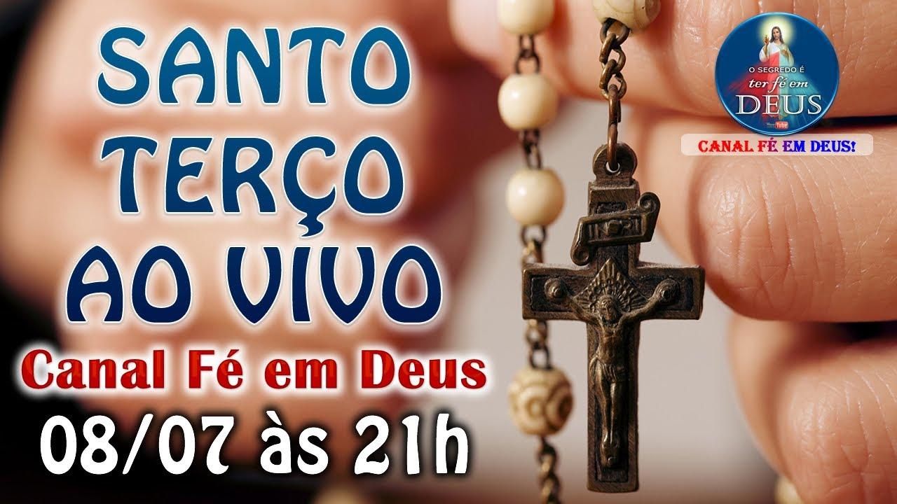 SANTO TERÇO MARIANO AO VIVO (08/07) - Toda Quarta-feira às 21h - Rezando os Mistérios Gloriosos