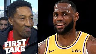 LeBron James doesn\'t have the \'clutch gene\' like Jordan or Kobe - Scottie Pippen | First Take