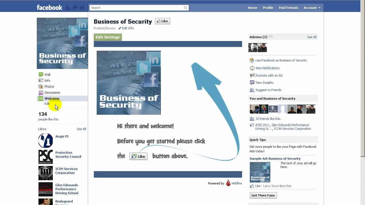 How To Add A Welcome Page To Your Facebook Fan Page