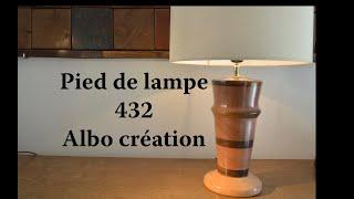 Pied de lampe  en hêtre, sapelli et ipé. 432.