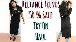 Reliance Trends Shopping Haul - Sale Try on Haul & Online Website Review   AdityIyer