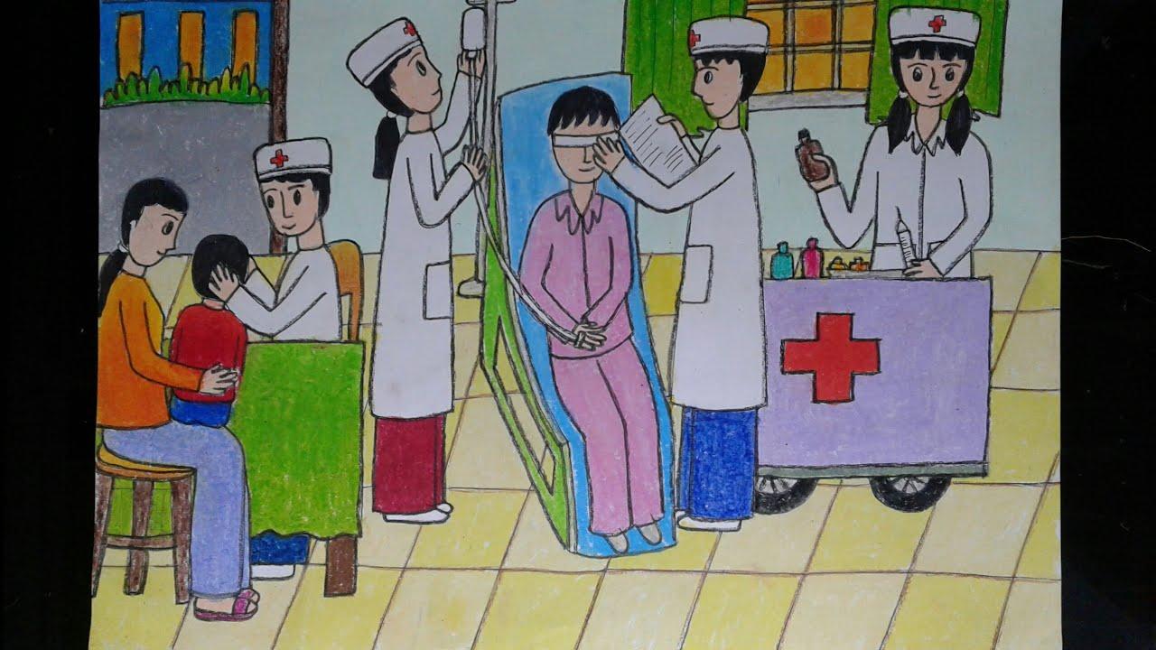 Vẽ ước mơ của em (em làm bác sĩ )