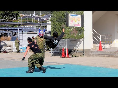 2018 姫路駐屯地記念行事 格闘訓練展示 マッチョ大活躍