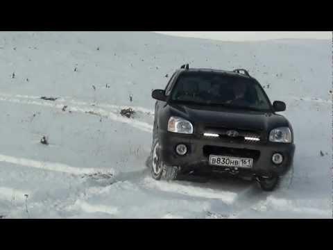 Hyundai Santa Fe 2.0 CRDI 4WD Off road and Russian winter 2011