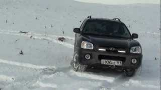 Hyundai Santa Fe 2.0 CRDI 4WD Off road and Russian winter 2011 смотреть