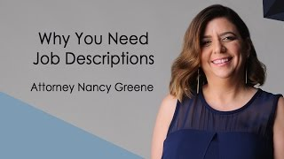 Why You Need Job Descriptions