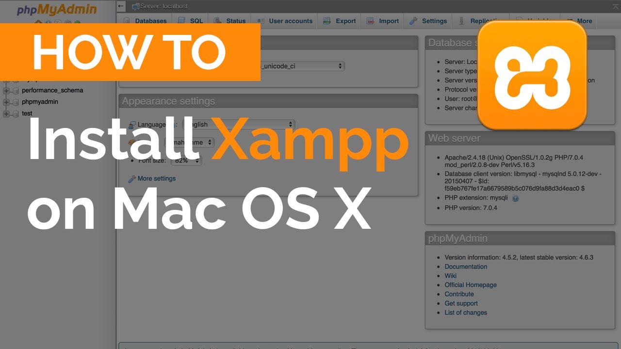 Install xampp mac os x