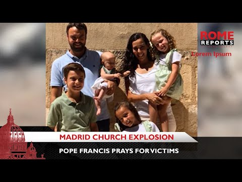 Pope Francis prays for victims of Madrid church explosion