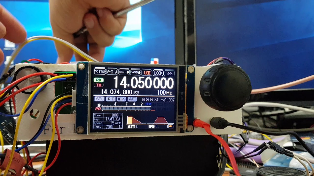 Setting CW options in uBITX with Nextion LCD (Version 1 097)