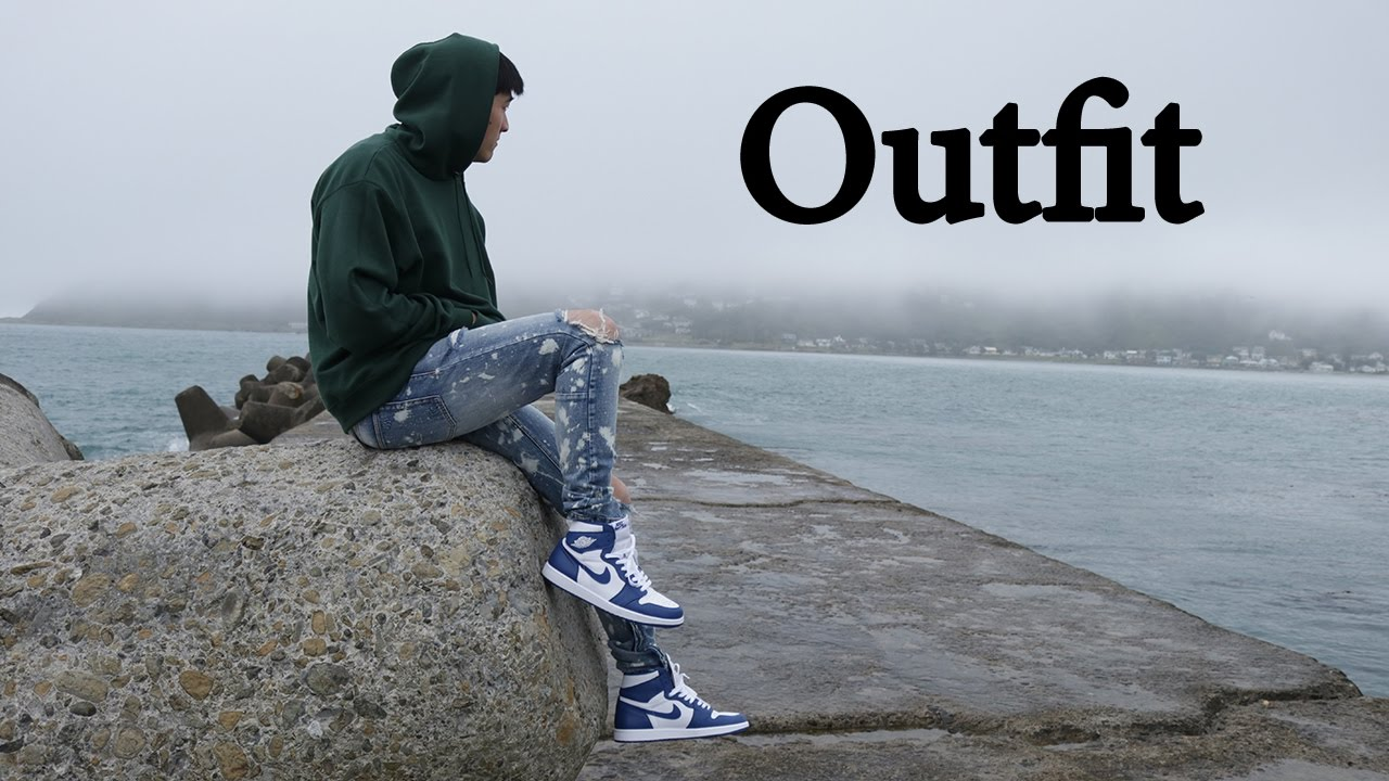 outfit with air jordan 1 storm blue