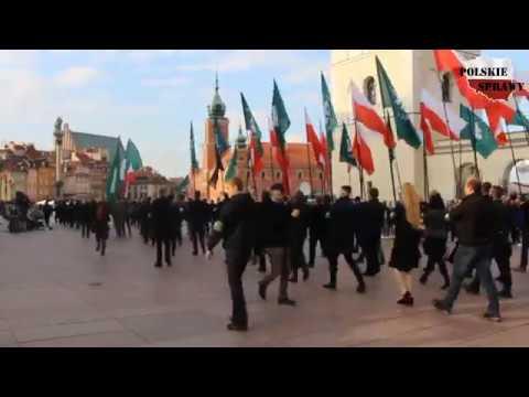83. rocznica powstania ONR - relacja z marszu, odczytanie Apelu Poległych