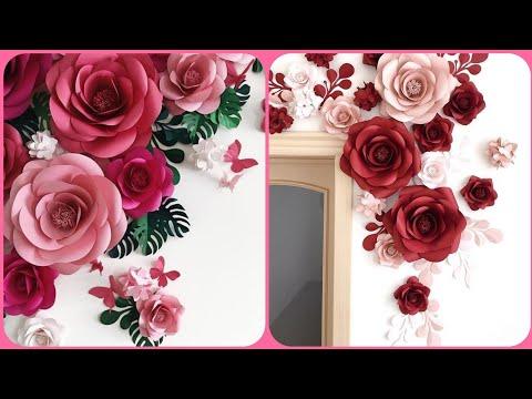 Beautiful backdrop paper flower ideas