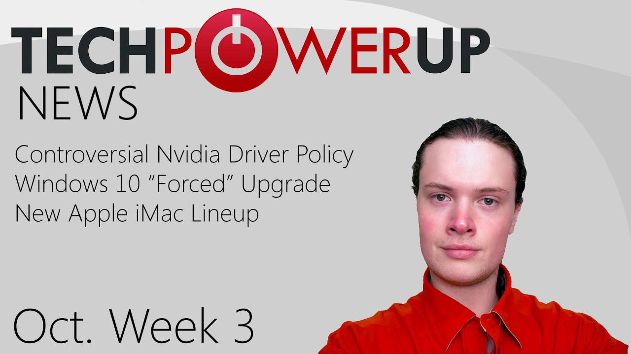 TechPowerUp News : Controversial Nvidia Driver Policy, Asus ROG G752, New  Apple iMacs