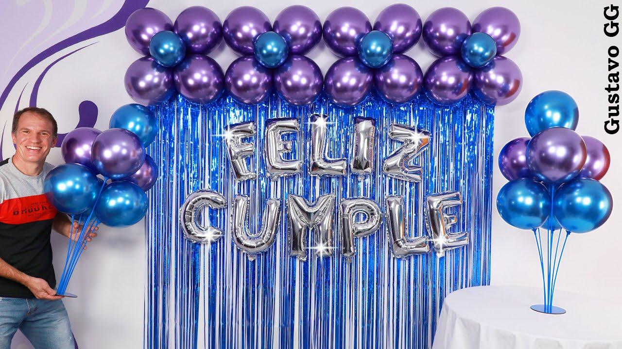 DECORACIONES PARA CUMPLEAÑOS 🥳 (arreglos con globos) ✨ decoración con globos - gustavo gg