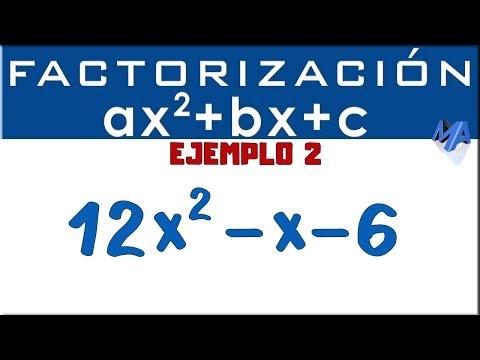 Factorización Trinomio De La Forma Ax2+bx+c | Ejemplo 2
