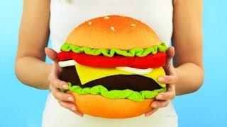 Подушка в виде чизбургера своими руками
