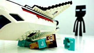 #Игробой Глеб и Стив выбираются с северного полюса! #Майнкрафт видео и Лего Мультики. Minecraft