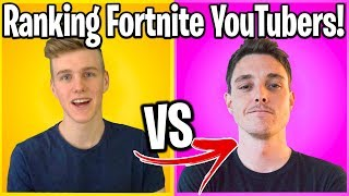 TOP 50 FORTNITE YOUTUBERS RANKED BY FORTNITE FANS!