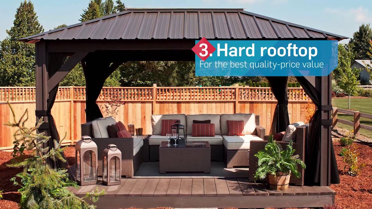 our guide to the best hardtop gazebos