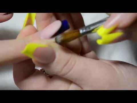 #1 Коррекция акриловых ногтей. Аквариум. Сorrection of acrylic nails. Aquarium.