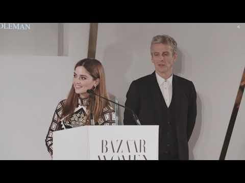 (中文字幕)Peter Capaldi's touching speech about Jenna Coleman at 2018 Harper's Bazaar Women of the Year
