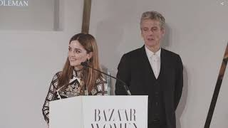 (中文字幕)Peter Capaldi's touching speech about Jenna Coleman at 2018 Harper's Bazaar Women of the Year