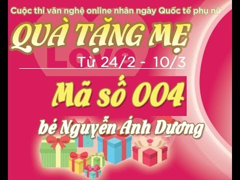 [Quà tặng mẹ]Mã số 004 - Bé Nguyễn Trà Giang