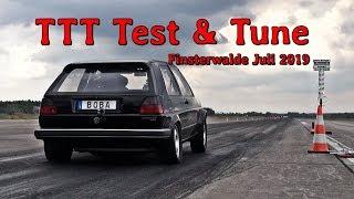 VW DSG Golf Mk2 AWD 8,7s @ 263kph first test in 2019 TTT Test & Tune Finsterwalde