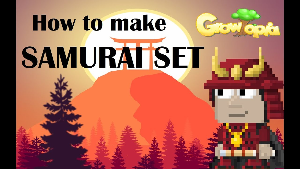 How To Make Samurai Set Growtopia Youtube