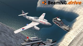 BeamNG.drive - JET GOING 600 MPH
