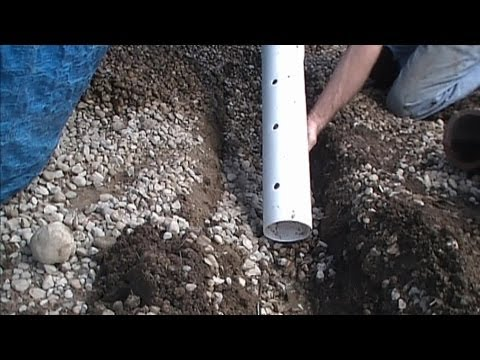 How To Install Perforated Pipe, French Drain for Do It Yours