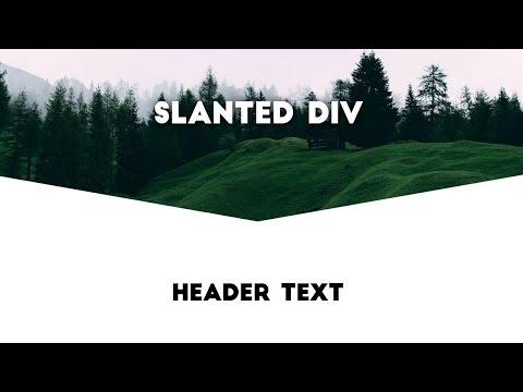 Create Slanted / Razor-Blade Div Shape using html5 & CSS3