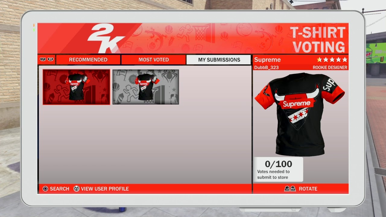0e430426e NBA 2k18 MyPark *HEAT ALERT* Custom T-Shirt design! - YouTube