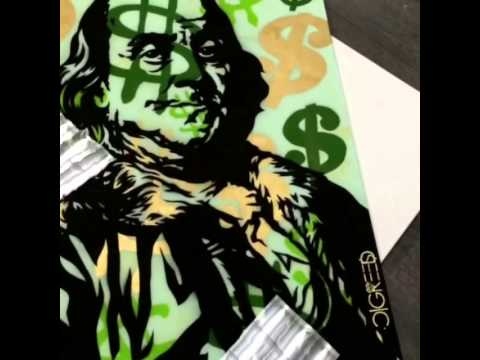 Benjamin Franklin by Artist C/GREED