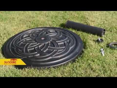how to assemble universal cast stone patio umbrella base sku sdus 08rd