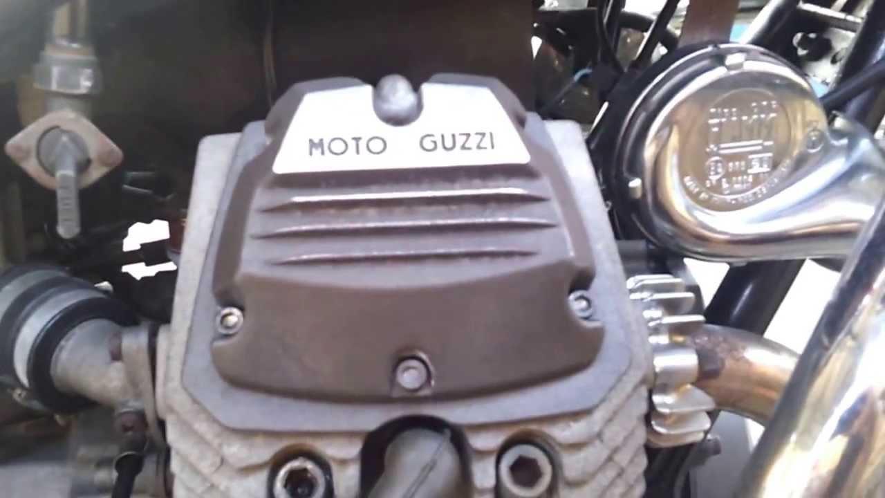 moto guzzi v35 trentacinque gt engine sound - youtube