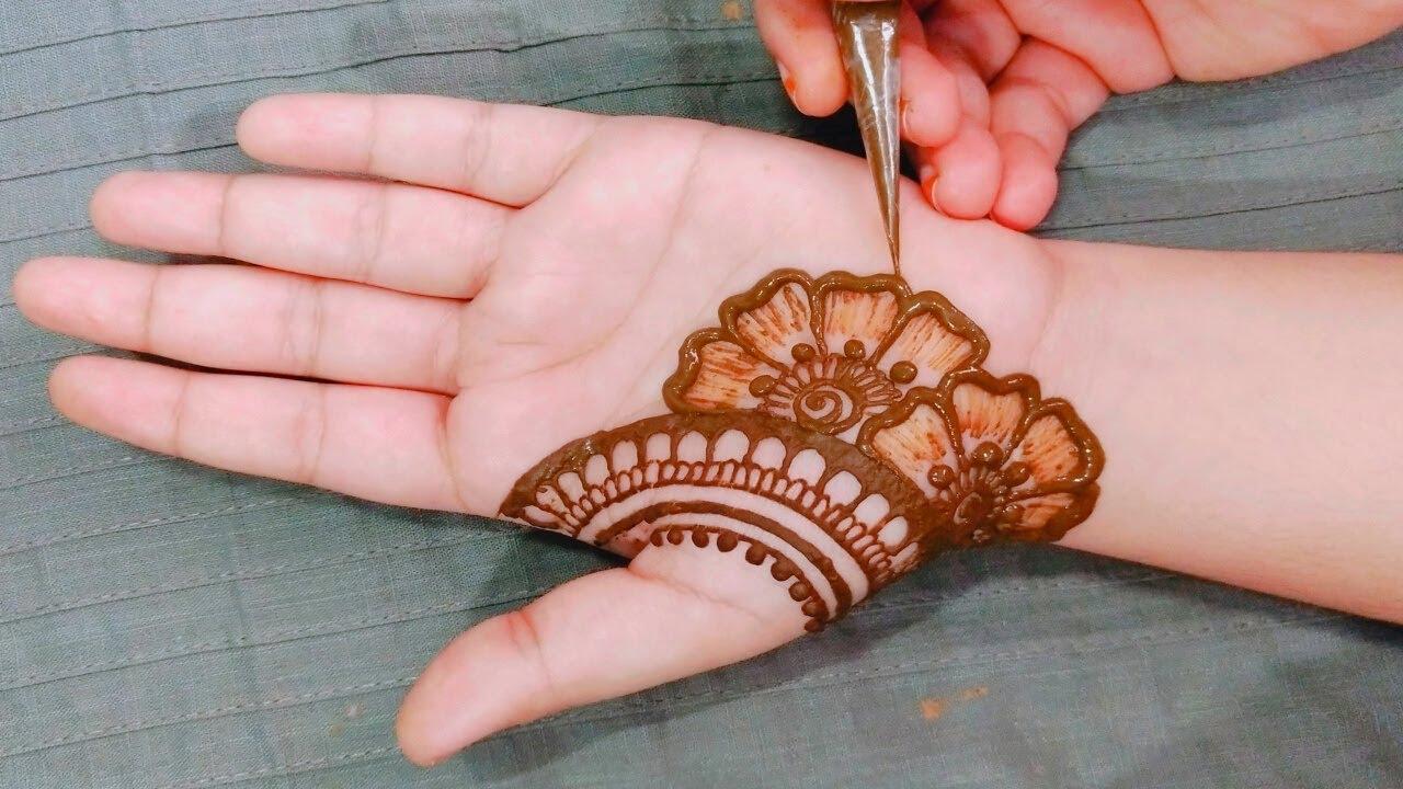 Beautiful Stylish Mehendi Design for front hands - Simple Mehndi Design - Latest Mehndi Design