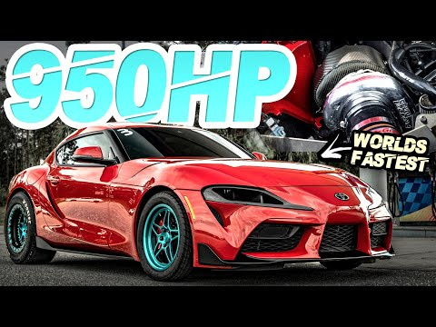 Fastest MKV Supra EVER! 950HP A90 Supra Sets WORLD RECORD (His Girlfriend Beat the MPH Record!)