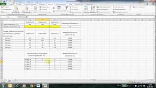 видео Решение задач оптимизации при помощи средства «Поиск решения» в Microsoft Excel