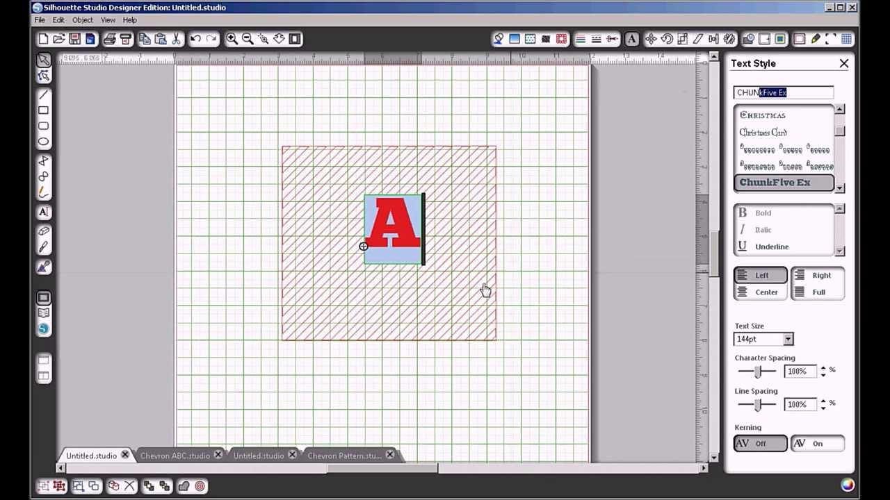 Tutorial silhouette how to fill a letter with a cuttable pattern