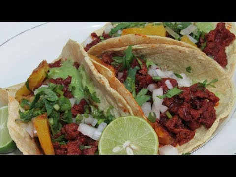 Tacos al Pastor de Soya   Receta Vegana