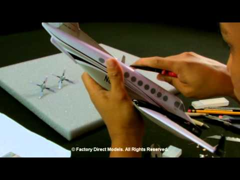 How it works: The custom aircraft scale model order process