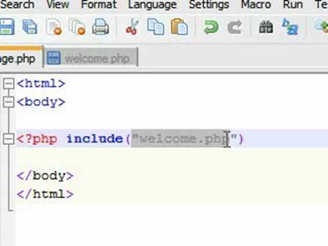 PHP  Tutorial - 21 - Include Function