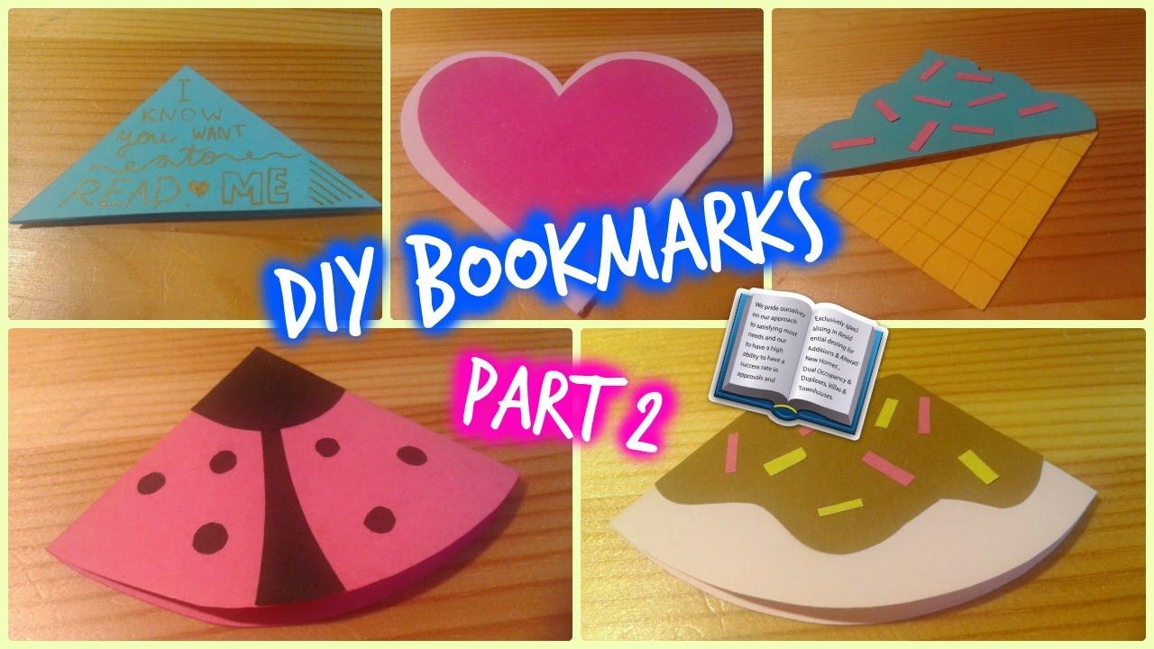 Diy corner bookmarks part 2 donut ladybug heart for Diy bookmarks for guys