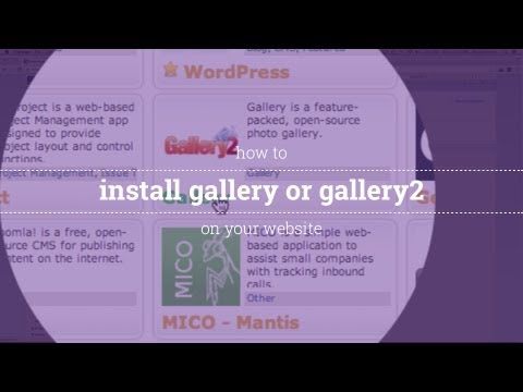 How to Install Gallery or Gallery2 on Your Website