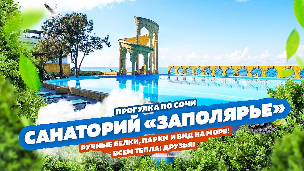 Прогулка по пустому санаторию «Заполярье» в Сочи! Ручные белки, парки и вид на море! Релакс видео 😂