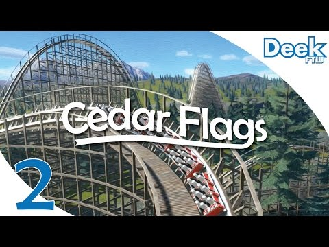 Let's Design Cedar Flags Ep.2  - Building Our Wooden Roller Coaster and Station - Planet Coaster