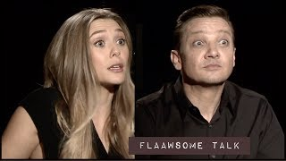 Elizabeth Olsen and Jeremy Renner on dealing with LOSS, GRIEF and SUPERHEROES