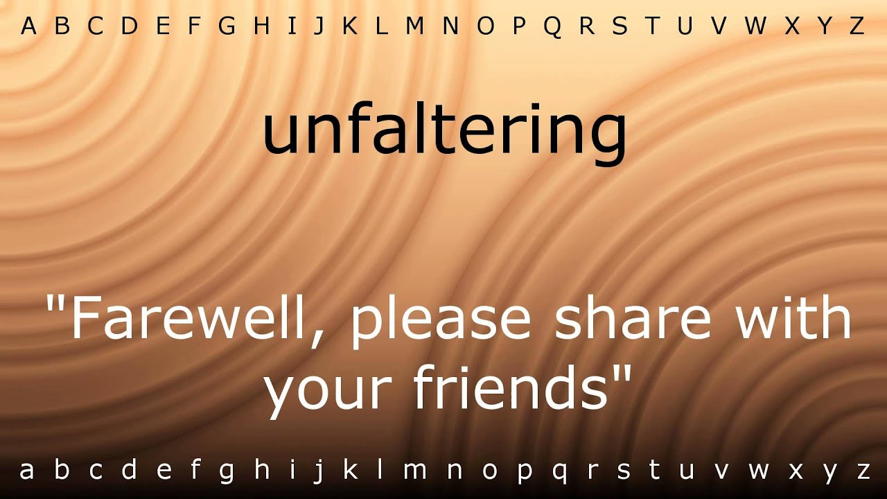 How to say 'unfaltering' with Zira.mp4 - YouTube