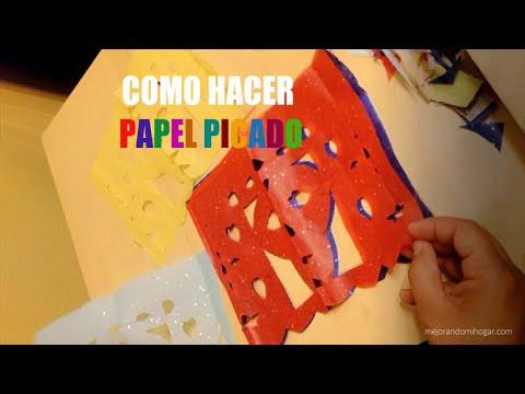 Como hacer papel picado para decorar fiestas 3 moldes para - Como hacer cadenetas de papel para fiestas ...